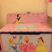 Disney Princesses wooden toy storage box and seat photo 2