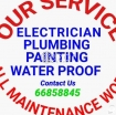 PLUMBER ELECTRICIAN PAINTING TABUK TAILS  ALL MAINTENANCE WORKER AVAILABLE photo 1