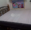 Ikea King size Mattress with bed frame photo 1