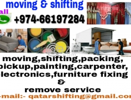 Low price moving shifting packing carpentry painting partition service in Qatar