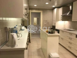 For rent fully furnished 3 bedroom + maid in the pearl for rent in Qatar