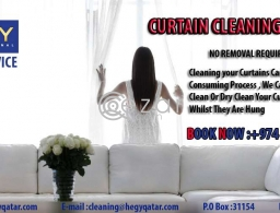 CURTAIN Cleaning Service Call us in Qatar