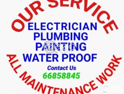 PLUMBER ELECTRICIAN PAINTING TABUK TAILS  ALL MAINTENANCE WORKER AVAILABLE in Qatar