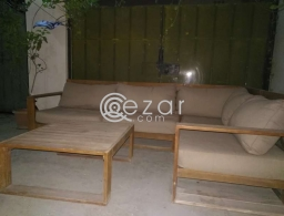 5 seat corner garden couche + table for sale in Qatar