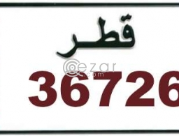 5 digits number plate for sale 36726 in Doha Qatar