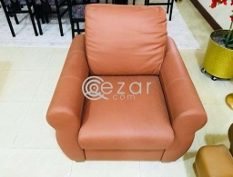 New stylish design 3+2+1 leather sofa for sale in Qatar