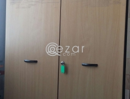 Very good quality cupboard, side table with roller for sale in Qatar