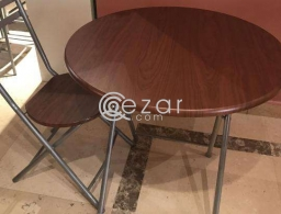 Table and chair for sale in Qatar