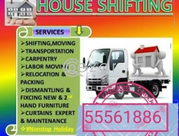 SHIFTING MOVING PACKING CARPENTRY SERVICES ANY TIME ANY PLACE IF YOU NEED CALL 55561886 in Qatar
