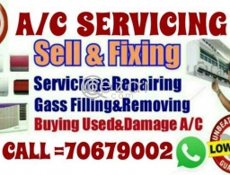 A/C servicing A/C Fixing A/C Gass Filling & A/C Maintenance work in Qatar