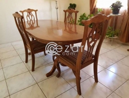 Wooden Dining Table with 4 chairs - urgent sale for sale in Qatar