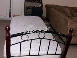 Single Bed frame with medical mattress for sale in Qatar