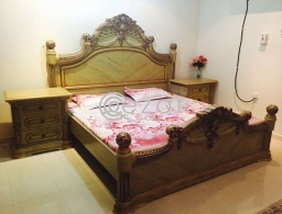package; Bed king size+Dressing Table+Cupboards for sale in Qatar
