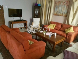 Big sofa set 3pices ,with cautions, for sale in Qatar