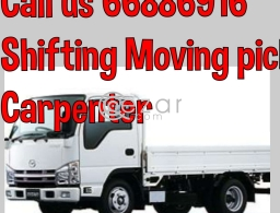 Shifting moving pickup carpenter call:66886916 in Qatar