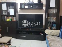 Hall Glass Showcase + Wall Rack + TV Base for sale in Qatar
