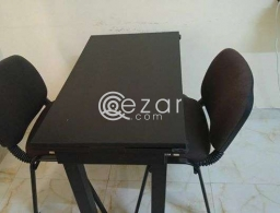 Urgent - Ikea Extendable Dining Table with 2 Chairs for Sale. for sale in Qatar