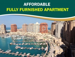 Affordable Fully Furnished Apartment with Marina View for rent in Qatar
