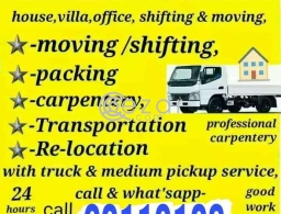 Shifting Moving Pickup Service anytime in Qatar