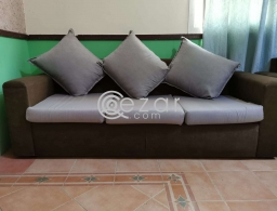 Three seater sofa MUST GO ASAP for sale in Qatar