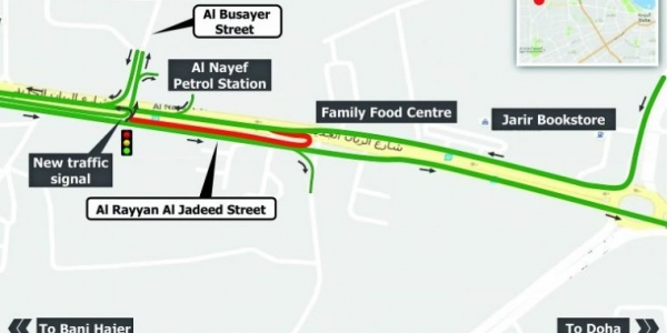 Two-month traffic diversion on Al Rayyan Al Jadeed Street
