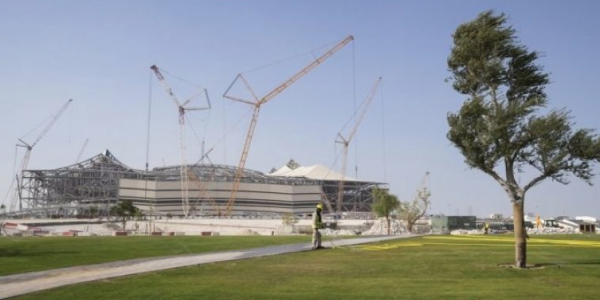 First home-grown turf planted around Qatar 2022 stadium
