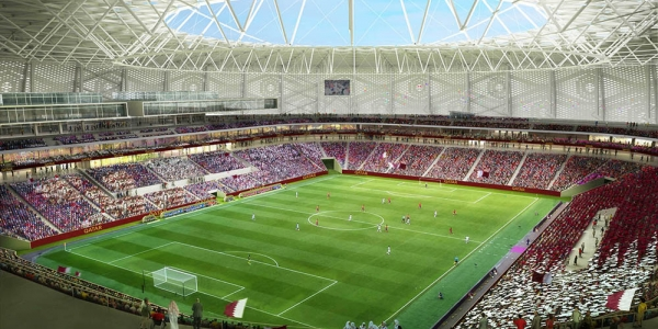 Concrete works completed at Qatar 2022 Stadium in Al Thumama