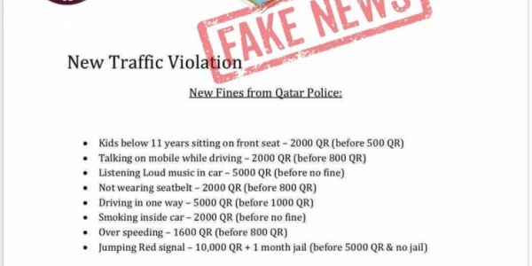 Fake news alert: No new fines introduced for traffic violations
