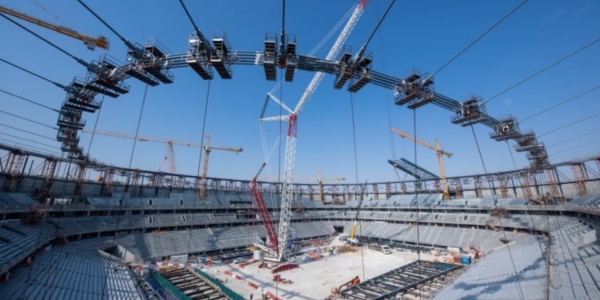 Education City Stadium see rapid progress as 'big lift' completed