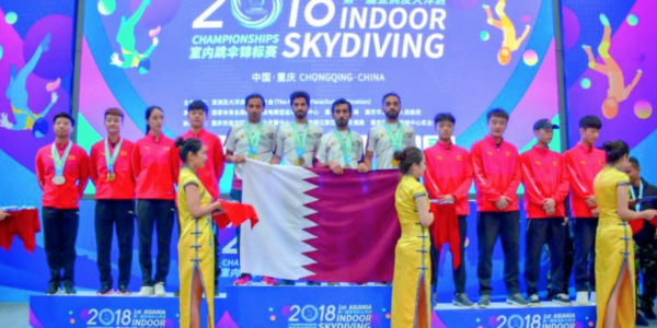 Qatar wins first place in Asiania Indoor Skydiving Championship