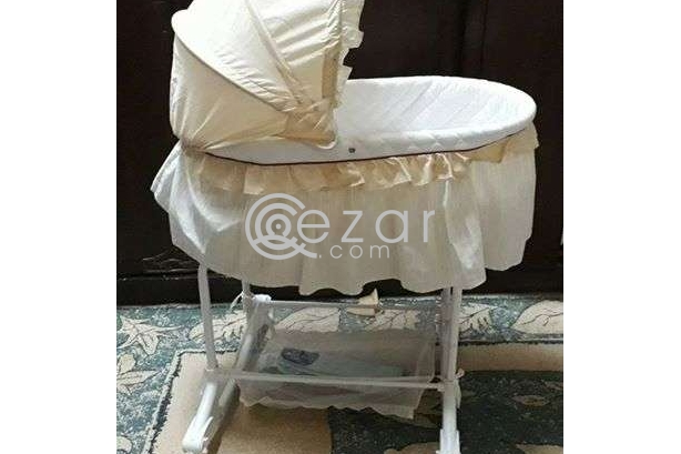 Junior baby stroller in good condition and bed photo 4