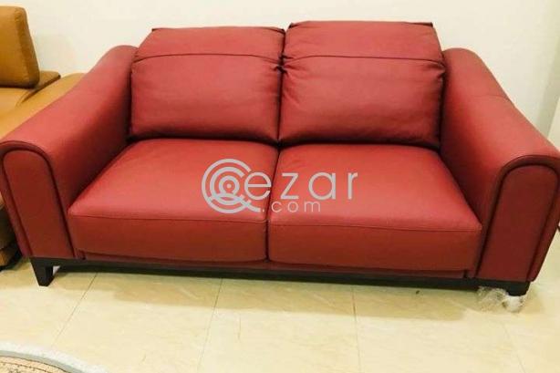 New stylish design 3+2+1 leather sofa photo 4