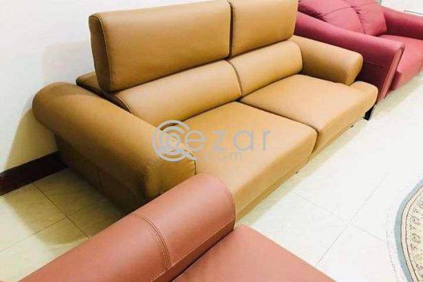 New stylish design 3+2+1 leather sofa photo 3
