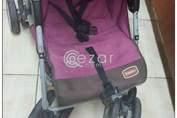Junior baby stroller in good condition and bed photo 3