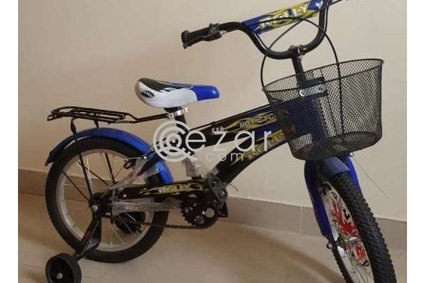 Blue bike for kids above 5 years old photo 1