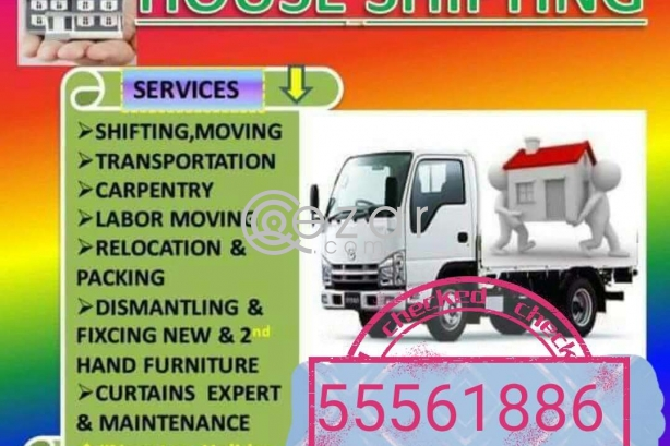 SHIFTING MOVING PACKING CARPENTRY SIRVICES ANY TIME ANY PLACE IF YOU NEED CALL 55561886 photo 1