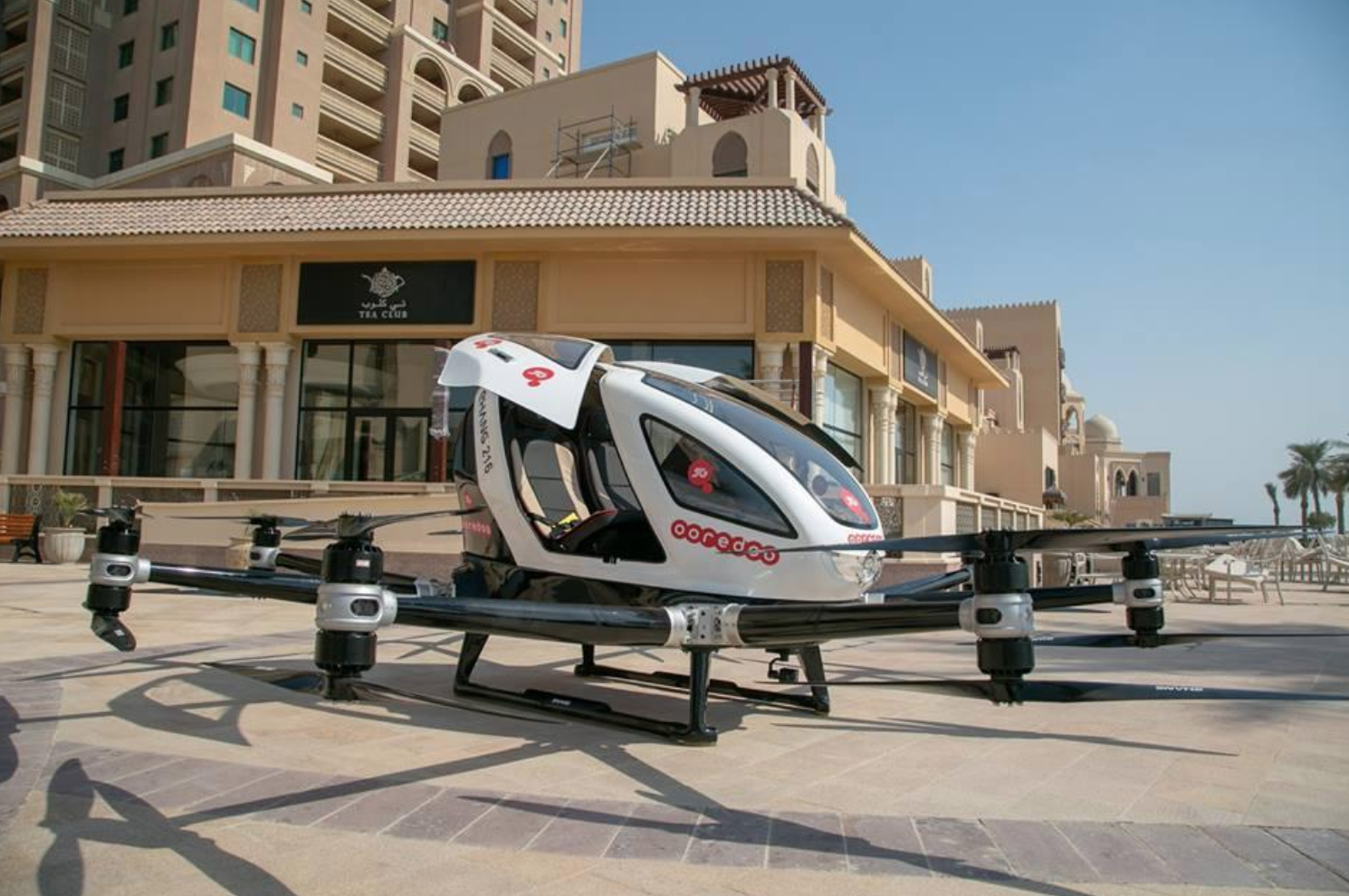 Ooredoo tests world's first ever flying taxi in Qatar