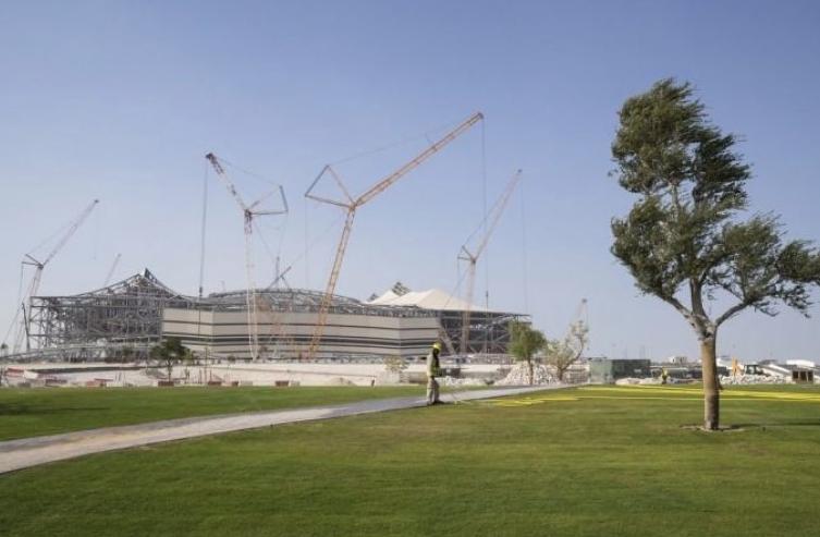 First home-grown turf planted around Qatar 2022 stadium
